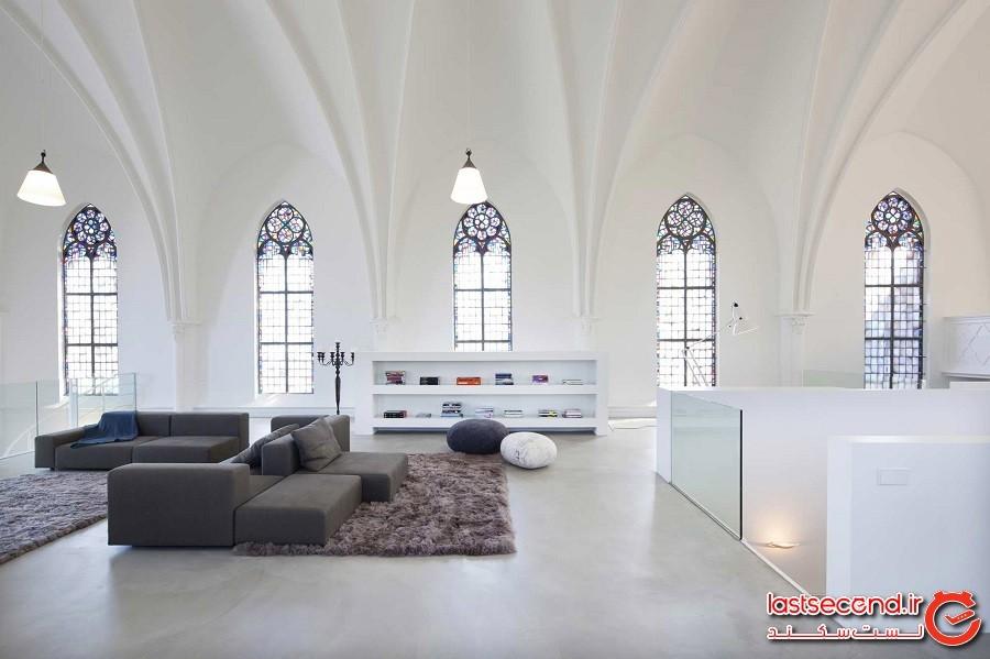 کلیسایی که به خانه مدرن تبدیل شد، هلند