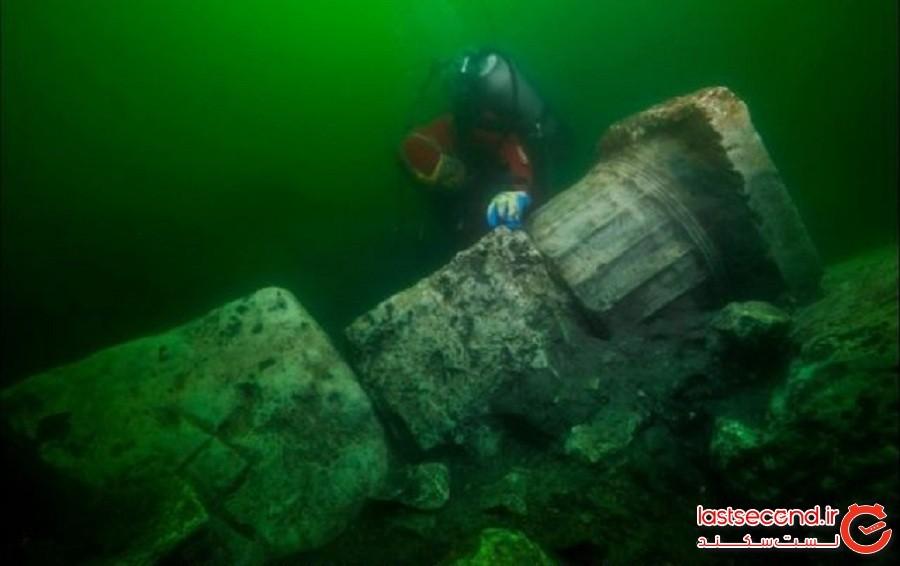 معبدی باستانی که در شهر زیرآبی گمشده در مصر کشف شد