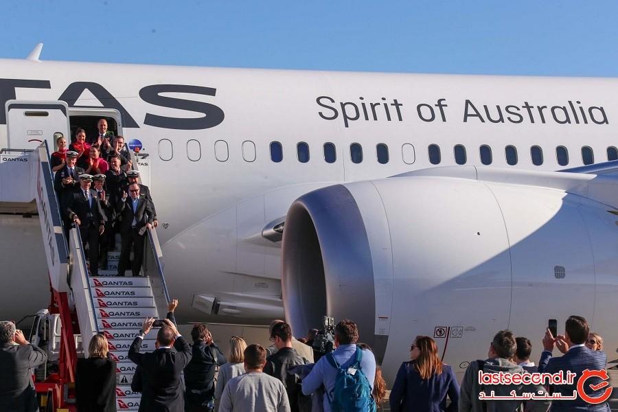 طولانی ترین پرواز جهان بعد از 19 ساعت پرواز با موفقیت بر زمین نشست!