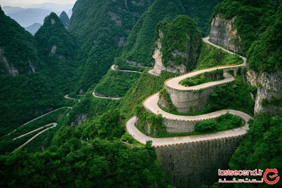 جاده کوهستانی تیانمن، چین