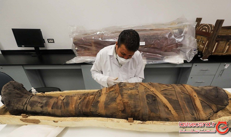 مومیاییهای 3000 ساله مصری که درون 30 تابوت چفتوبست یافت شدند
