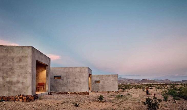 خانهای با طراحی منحصر به فرد در بیابان های تگزاس!