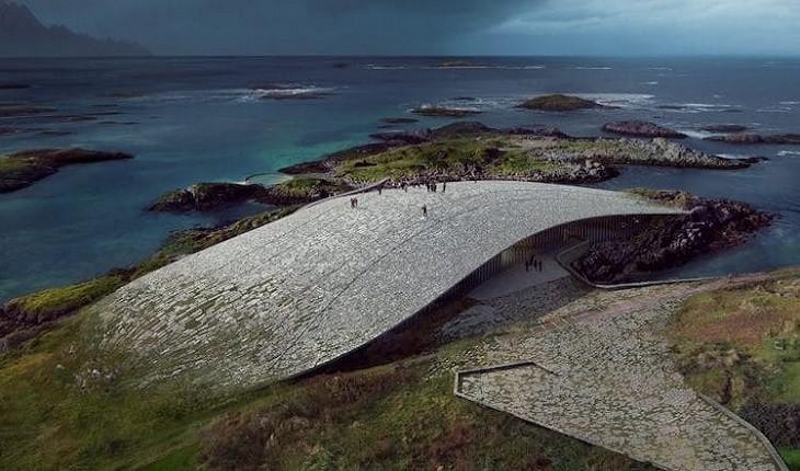 نهنگی سنگی در مدار قطبی، ترکیب معماری و محیط زیست!