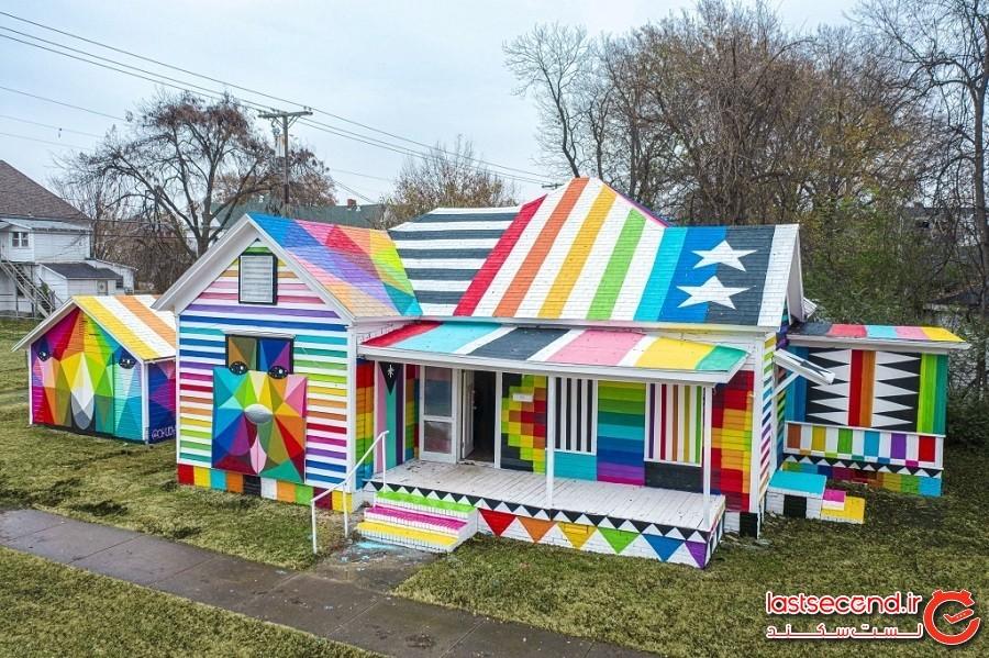 هنرمندی که یک ساختمان قدیمی و فراموششده را به مرکز هنری سفارتخانه رنگینکمان تبدیل کرد