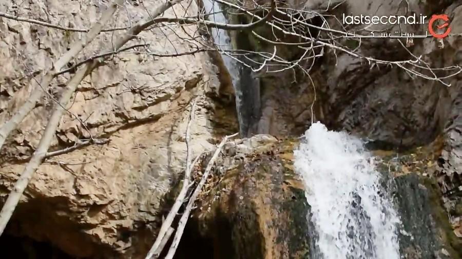 آبشار زیبای خرو در پاییز