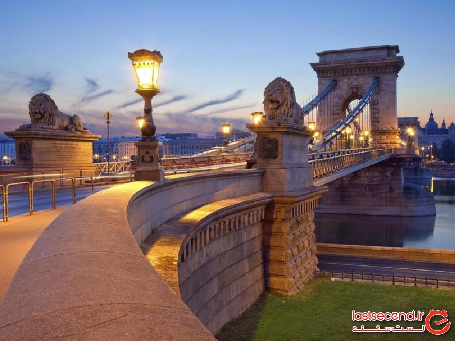 پل زنجیر سِچِنْیی (Széchenyi Chain Bridge) - بوداپست، مجارستان