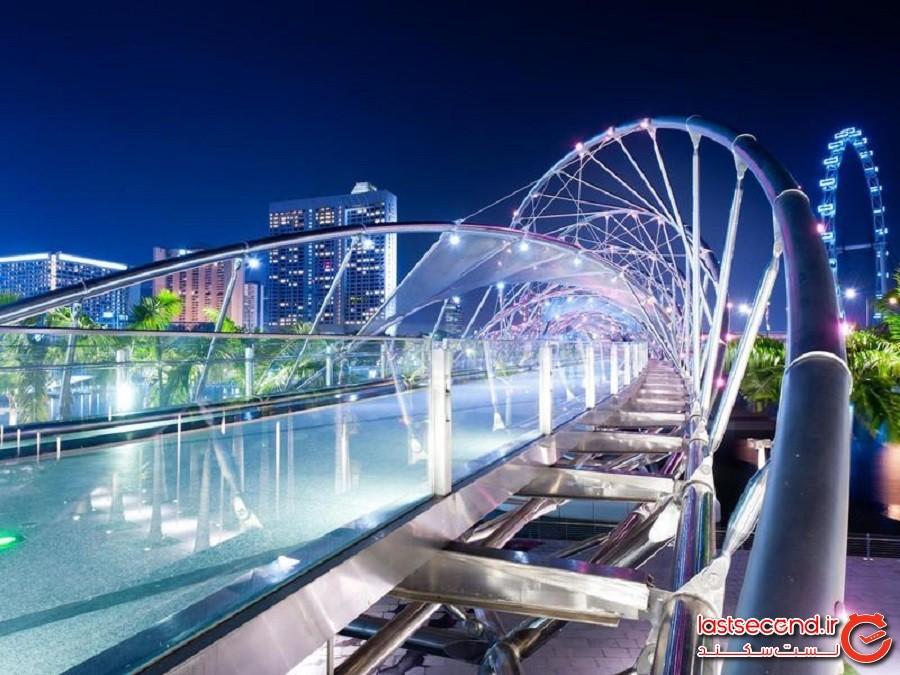 پل هلیکس(Helix Bridge) یا مارپیچ - سنگاپور