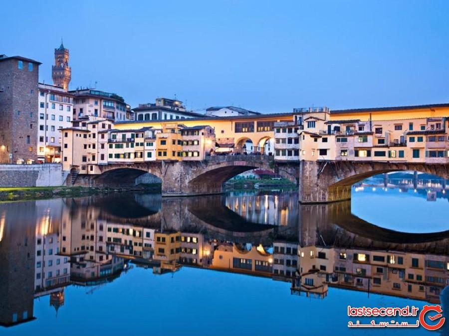 پل پونته وکیو (Ponte Vecchio) - فلورانس، ایتالیا