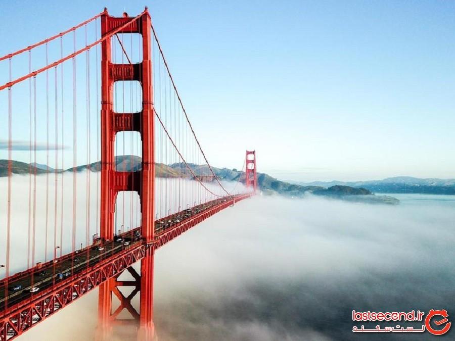 پل گلدن گیت (Golden Gate Bridge) - سانفرانسیسکو، کالیفرنیا