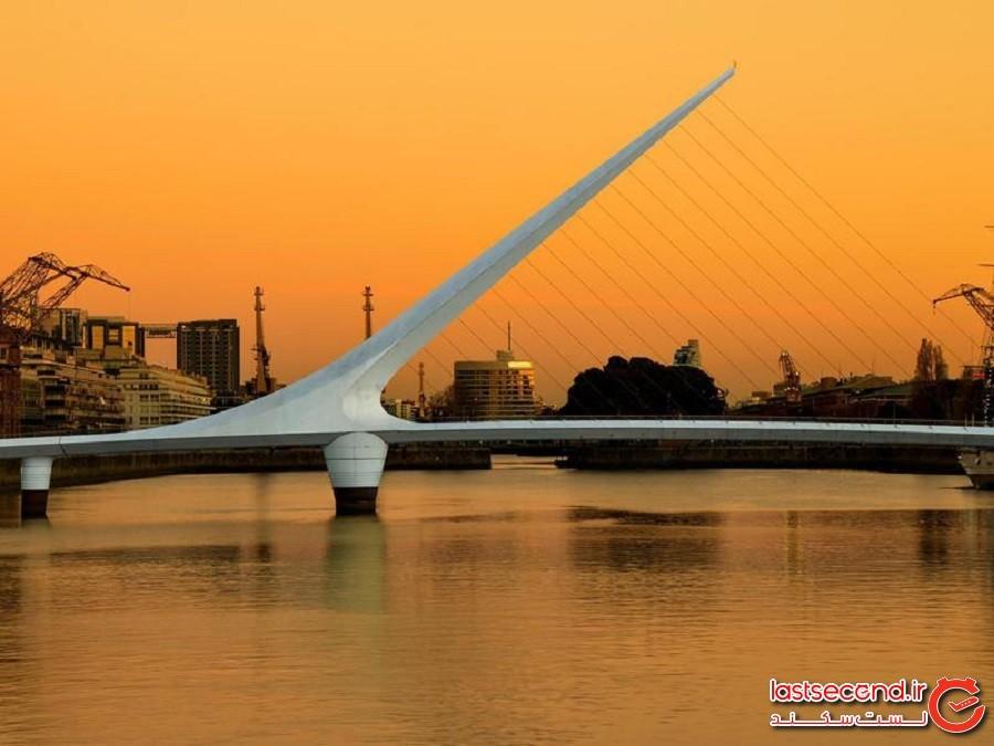 پل لا موهر (El Puente de la Mujer) که از آن با نام پل زنان نیز یاد میشود - بوینوس آیرس، آرژانتین