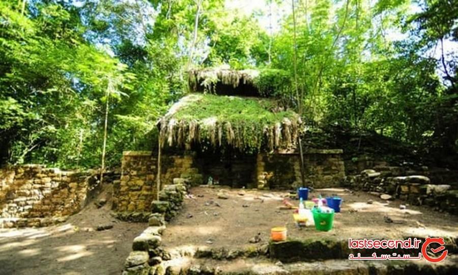 کاخی متعلق به تمدن مایا که در دل جنگل قرار گرفته است!