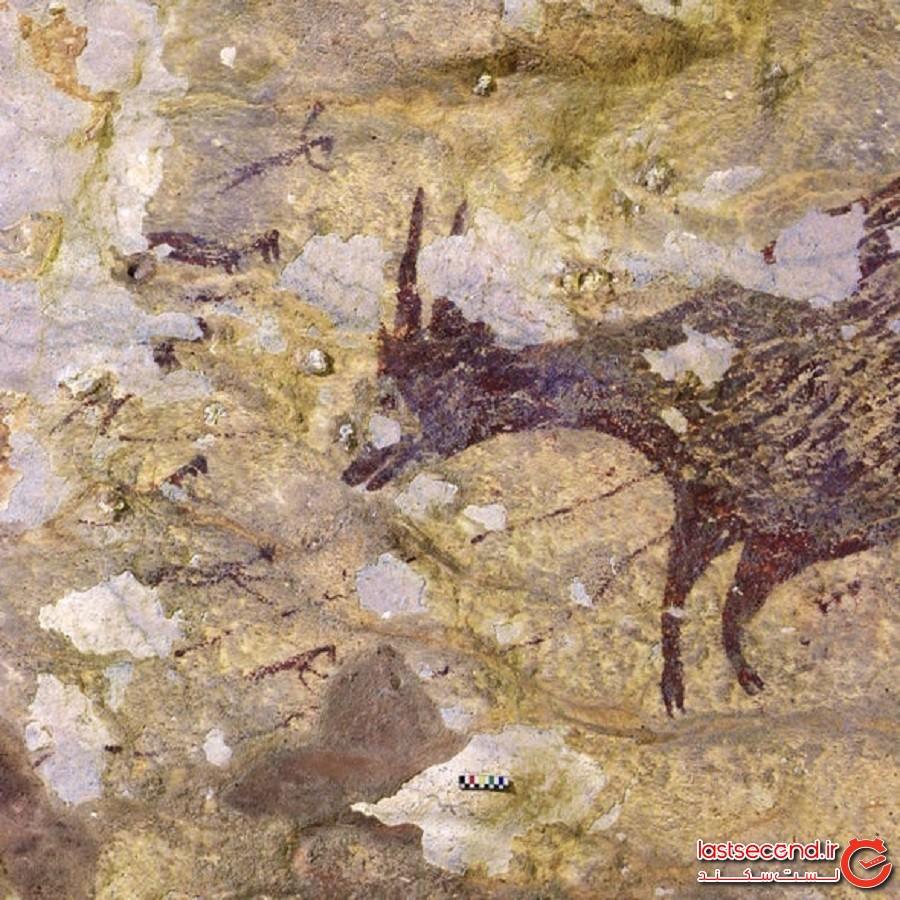 هنر غاری 45000 ساله رازآلودی که در آن موجودات افسانهای نیمهانسان نیمهحیوان به تصویر کشیده شدهاند