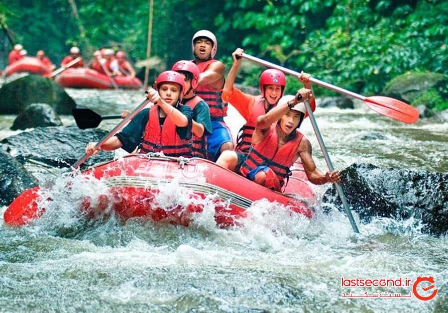 رفتینگ در رودخانه ی Ayung