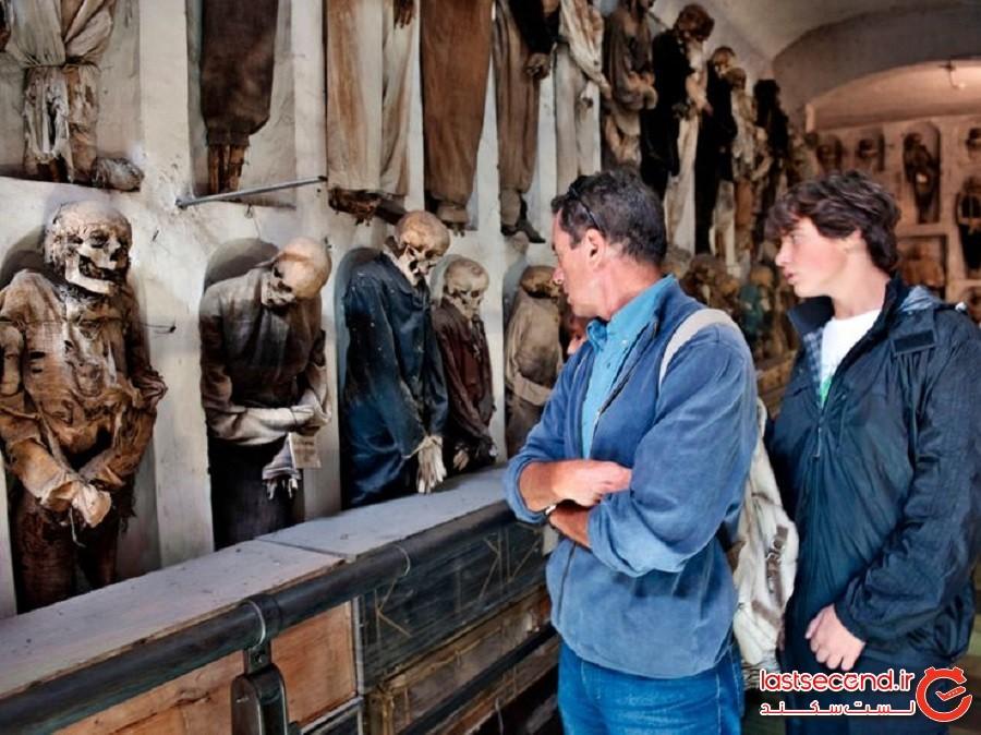 حتی مردگان هم آراسته به نظر میرسند: دخمههای شهر پالِرمو (کشور ایتالیا)