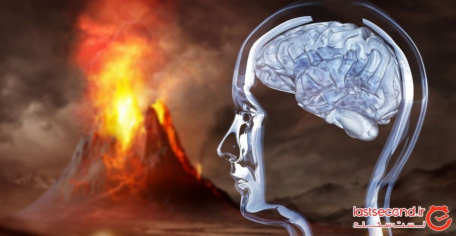 فوران آتش فشان مغز های انسان ها را به شیشه کرده است
