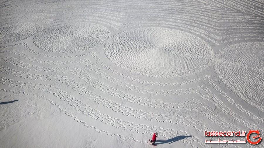 هنر برفی عظیم هنرمند کفش برفی سایمون بک در کلرادو