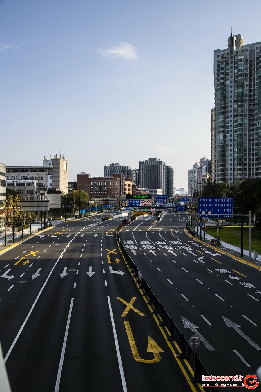 کرونا ویروس خیابان های شانگهای را به خیابان مرده ها تبدیل کرد!