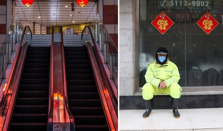 ویروس کرونا خیابان های شانگهای را به خیابان ارواح تبدیل کرد!