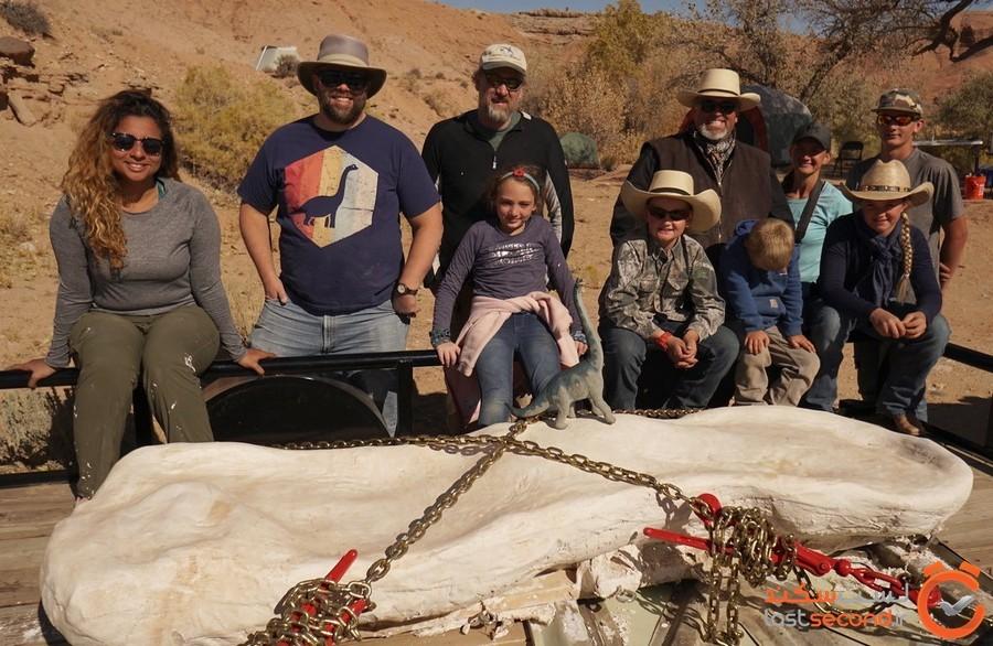 کشف فسیل استخوان های دایناسوری کم یاب در غرب آمریکا