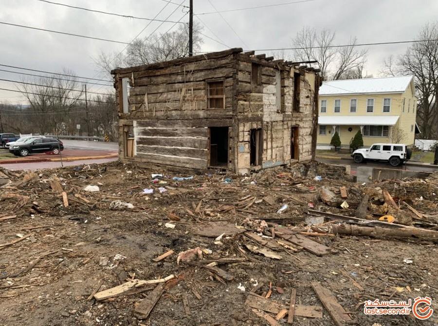 کلبه چوبی 200 ساله که بعد از تخریب کافه پیدا شد!