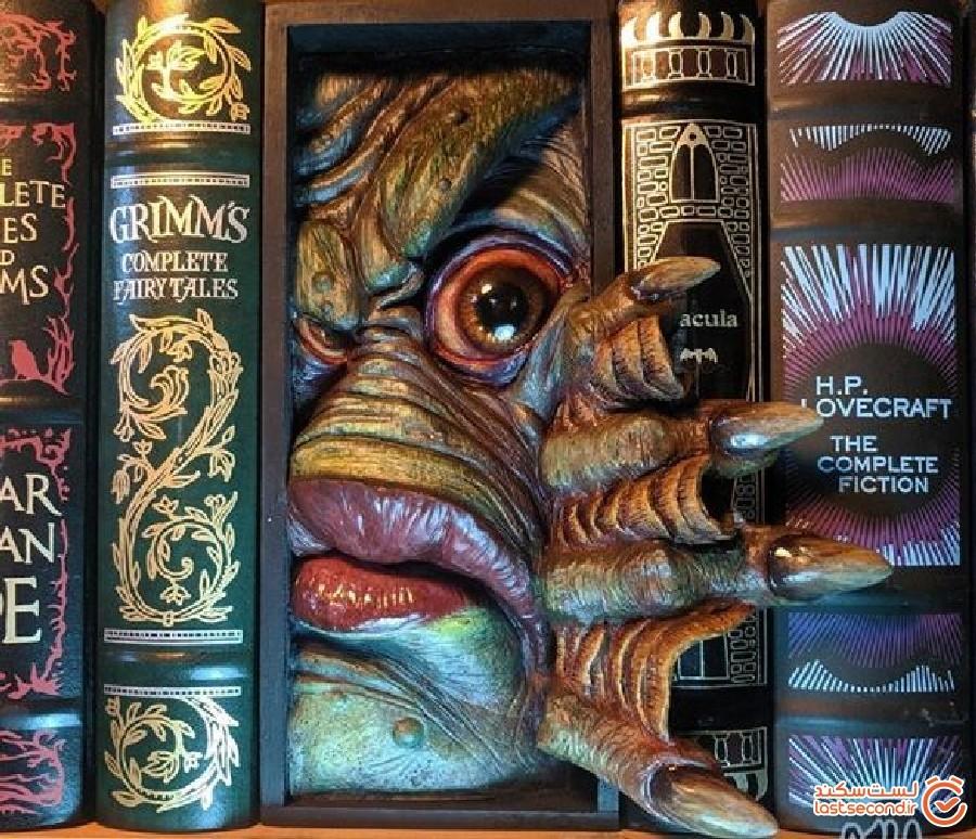 کارهای هنری کوچکی که روحی تازه به قفسه کتاب تزریق می کنند