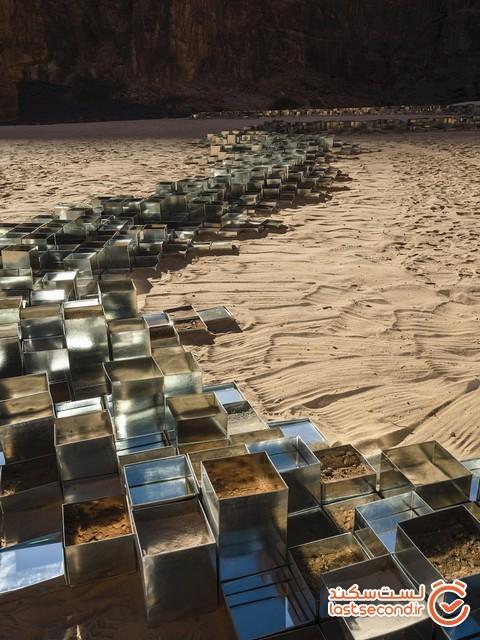 14 هنرمند یک صحرا در عربستان سعودی را به واحه هنر معاصر تبدیل کردند