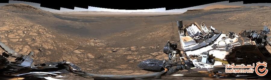 تصویر پانوراما 1.8 گیگاپیکسلی تیم مریخنورد ناسا از سیاره مریخ