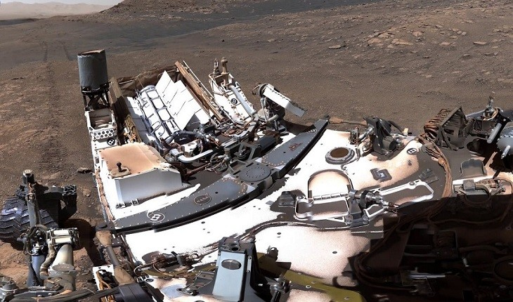 تصویر پانوراما و عجیب تیم مریخ نورد ناسا از سیاره مریخ