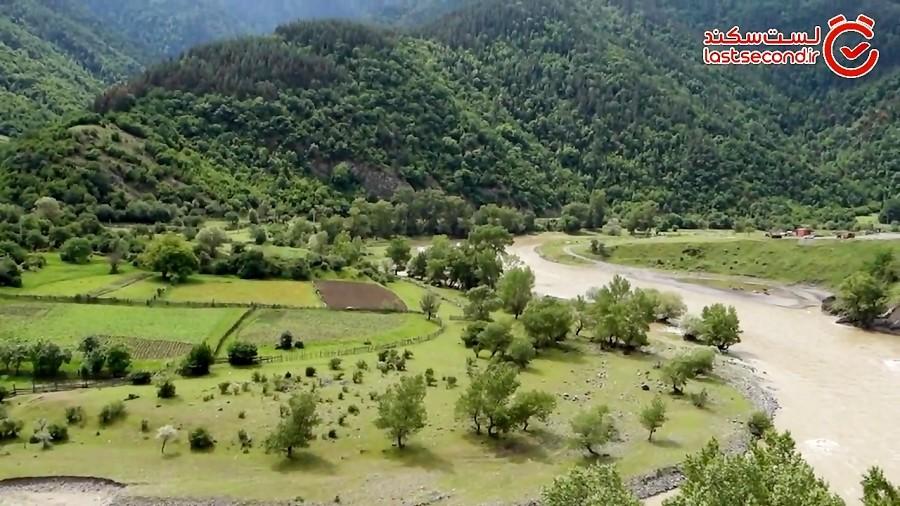 جاده زیبای پوسوف به اردهان و واله به برجومی