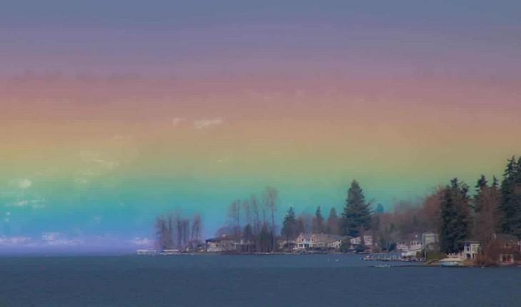 عکاسی که رنگین کمانی افقی و خیره کننده را شکار کرد!