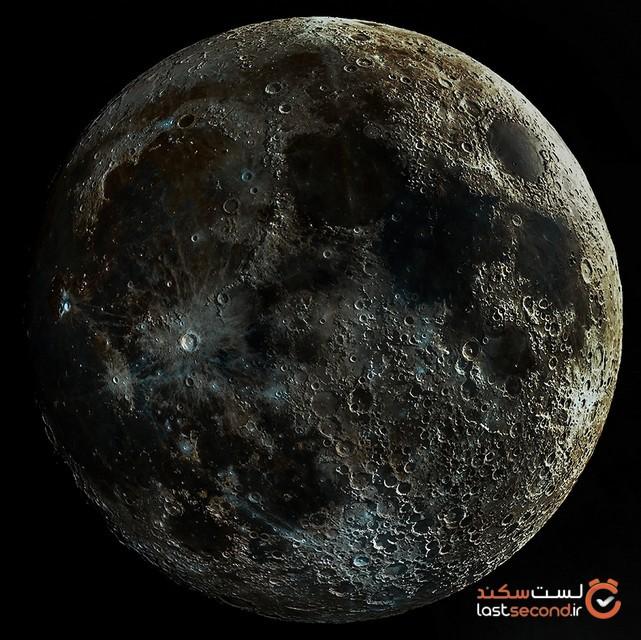 تصویر عجیبی از صدها دهانه بر روی ماه