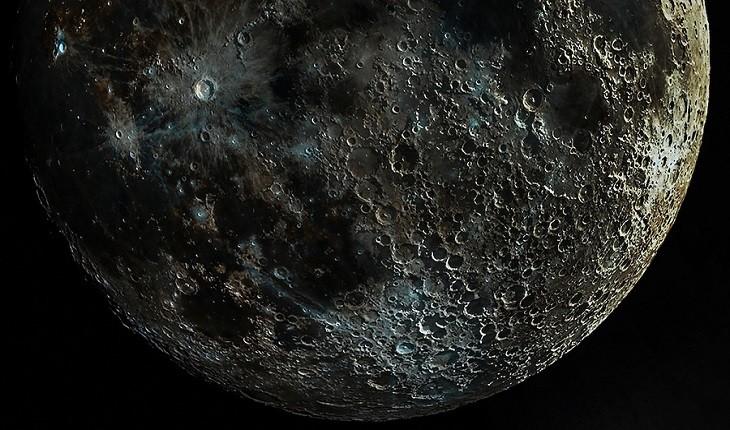 تصویر عجیبی از صدها دهانه بر روی ماه که به خوبی قابل مشاهده است
