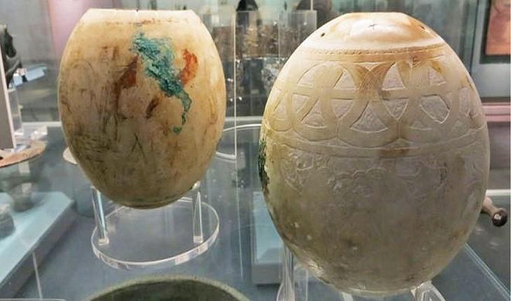 راز 5000 ساله تخم شترمرغ های عظیم نقاشی و کنده کاری شده در نهایت حل شد!