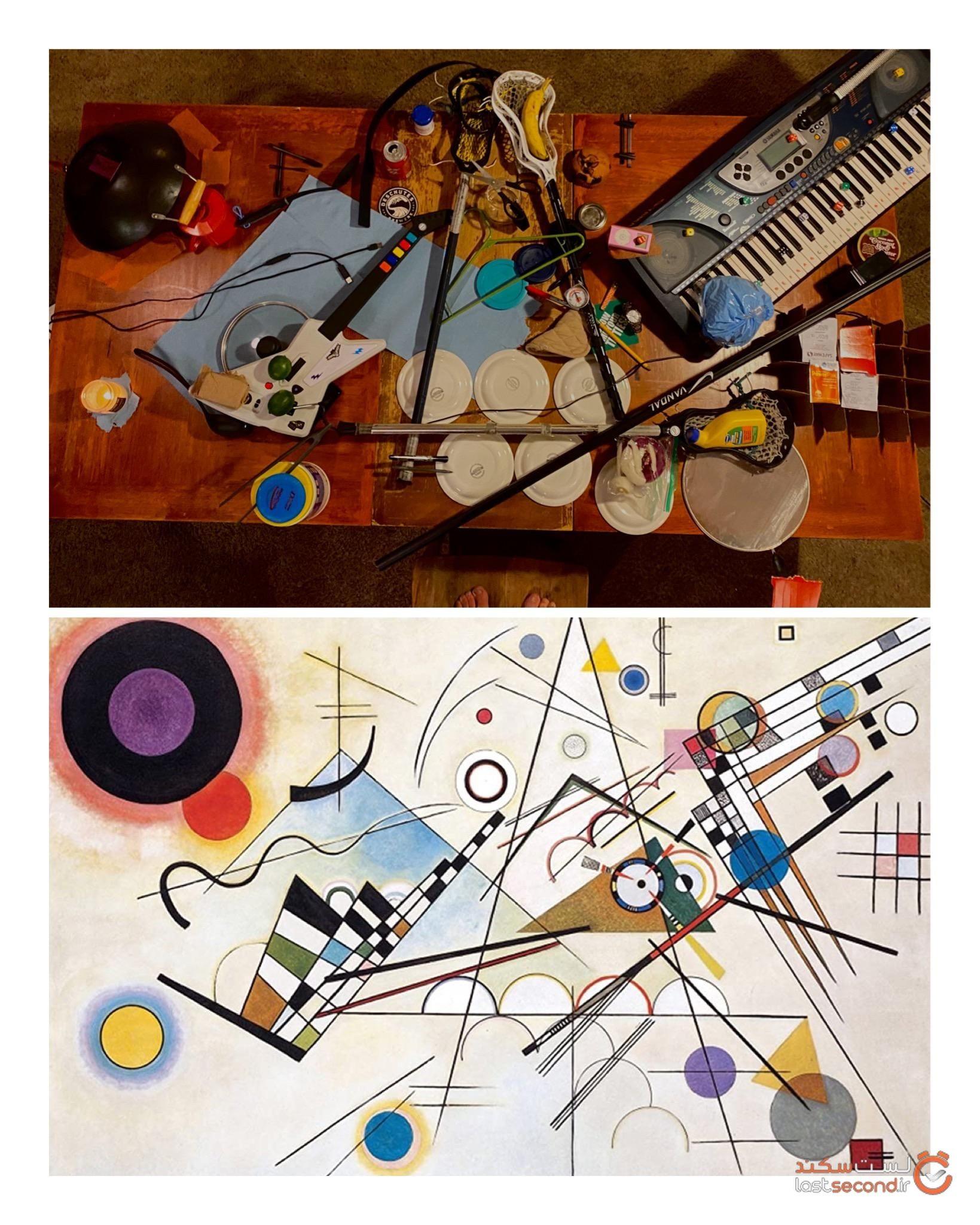 مردم آثار هنری را اشیا در خانه بازسازی کردند.