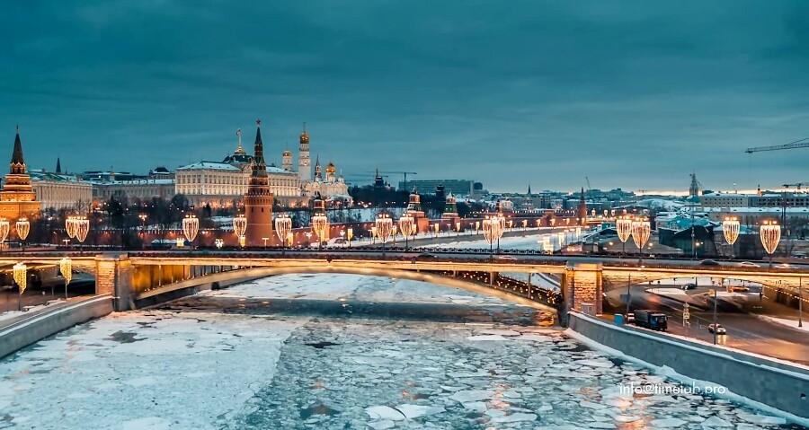 تصاویر خیره کننده از زمستان در مسکو