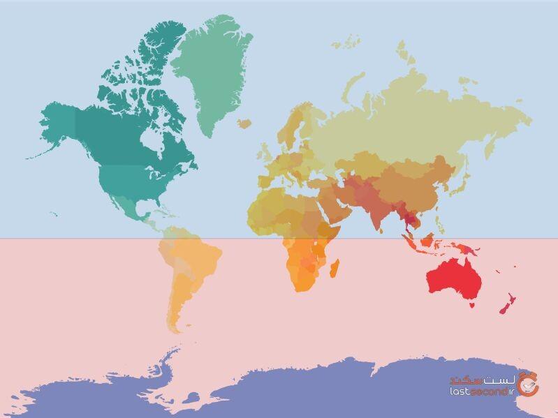 چه چیزیهای رو نقشه جهان اشتباه است؟