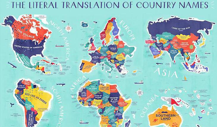 نام هر کشور به چه معنی است؟