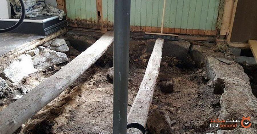 زوج نروژی در حین تعمیر طبقه پایین خانه خود با حیرت قبر وایکینگها را کشف کردند