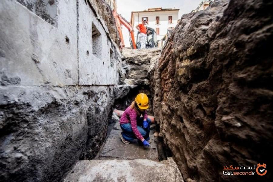 گودالی در نزدیکی معبد پانتئون در روم باز شد!