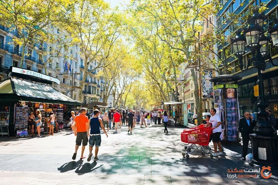 7 مورد از جالبترین خیابانهای پیادهرو در جهان