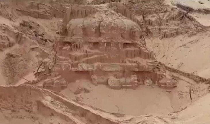 معبد گمشده هندو به طرز خارق العاده ای از زیر شن و ماسه بیرون آمد!