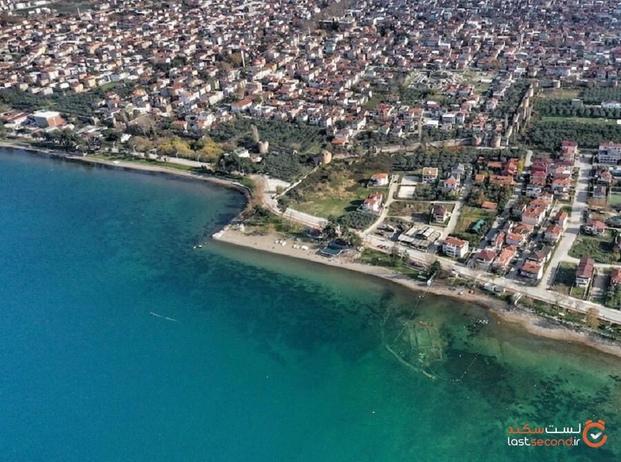 کلیسای باستانی زیر آب در دریاچه ایزنیک یافت شد