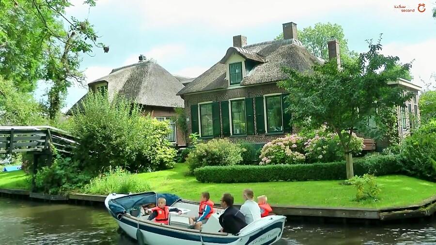 گیتورن بهشت بدون جاده و ماشین در هلند