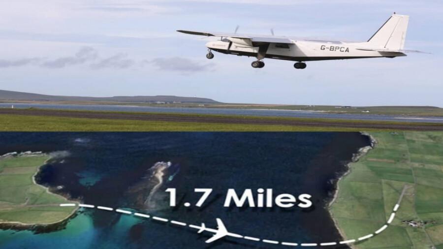 کوتاهترین پرواز جهان، پروازی که 80 ثانیه طول می کشد!