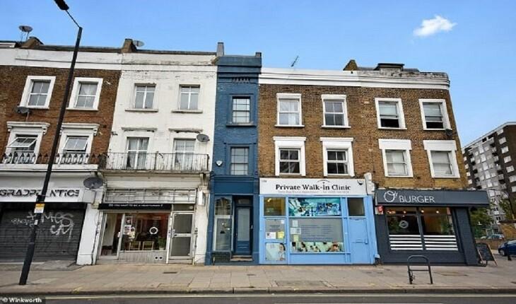 باریک ترین خانه لندن با پهنای 165 سانتیمتر، به فروش گذاشته شد!