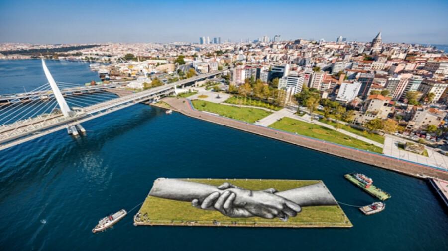 رونمایی از پروژه عظیم هنر زمینی در استانبول !