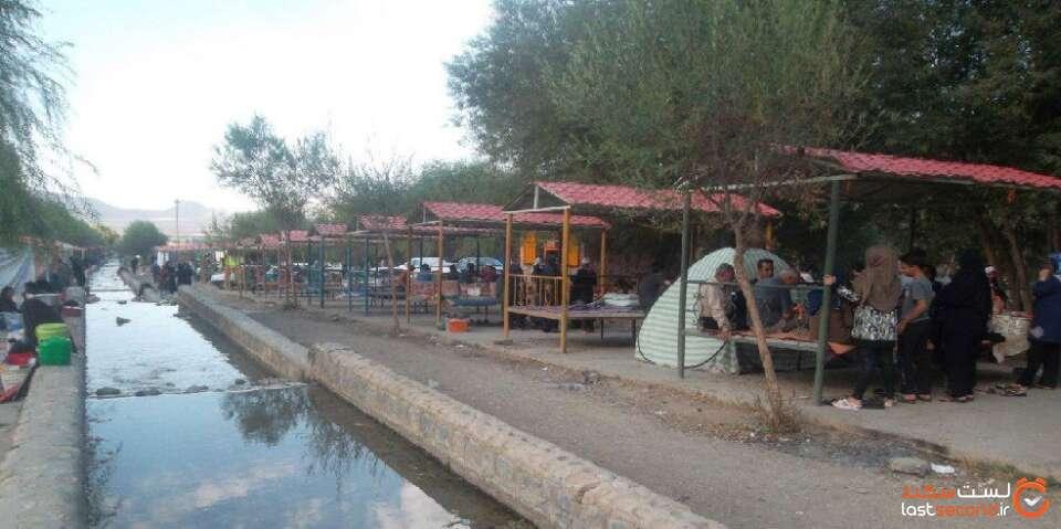 آلاچیق های منطقه گردشگری چشمه مرغاب