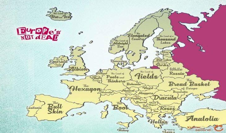 با لقب کشورهای اروپایی آشنا شوید