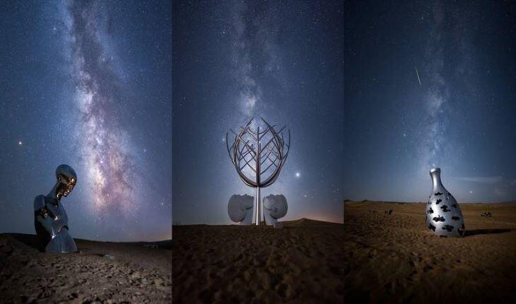 مجسمههایی اعجاب انگیز در نخستین موزه صحرایی چین