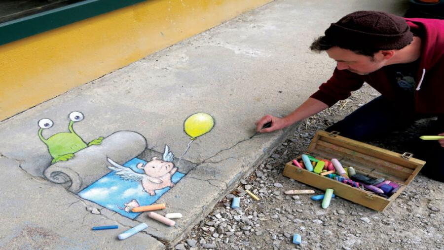 هنر نقاشی سه بعدی در خیابان!